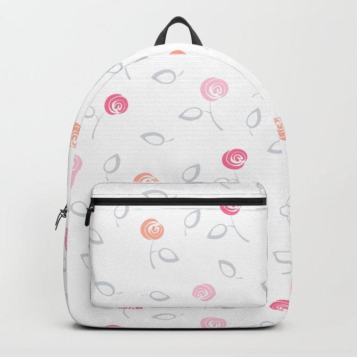 Cute mini flowers roses Backpack