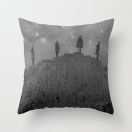 Walking the Giants Causeway Throw Pillow