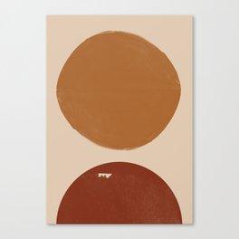 Burnt Orange Sun, New Boho Canvas Print