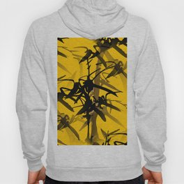 Bamboo Branches On A Yellow Background #decor #society6 #buyart #pivivikstrm Hoody