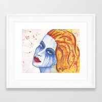 emily rickard Framed Art Prints featuring Emily by claudia beldent
