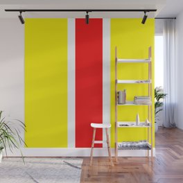 TEAM COLORS 10...RED AND YELLOW Wall Mural