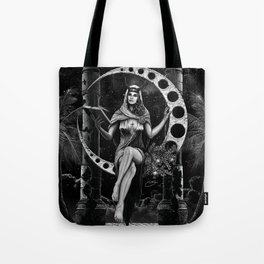 II. The High Priestess Tarot Card Illustration Tote Bag