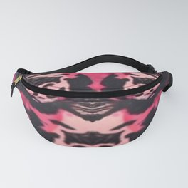 Black and Red Mental Health Fanny Pack