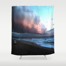 Approching Storm Huntington Beach Shower Curtain