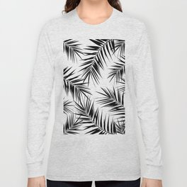 Palm Leaves Cali Finesse #3 #BlackWhite #tropical #decor #art #society6 Long Sleeve T-shirt