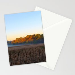 First Frost and a Foggy Morning Stationery Cards