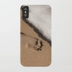 Foot print in the sand Slim Case iPhone X