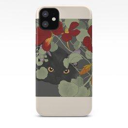 Nasturtium Cat iPhone Case