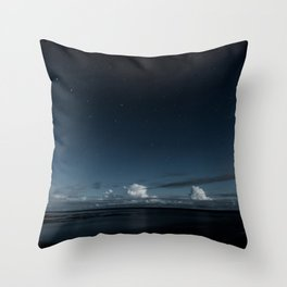 Night Coast Throw Pillow