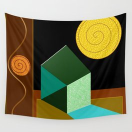 Modern Geometric Textured Abstract Wall Tapestry