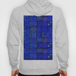 -A2- Lovely Calm Blue Traditional Moroccan Pattern Artwork. Hoody