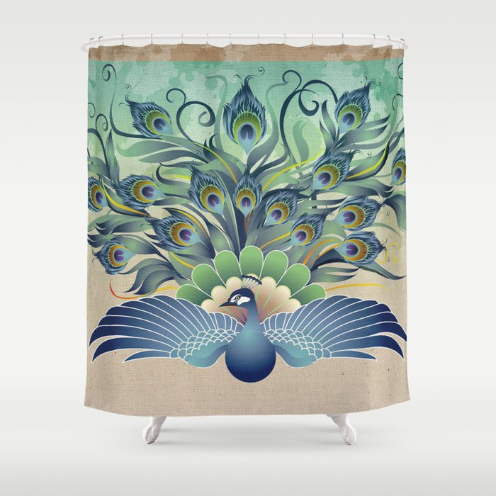 Peacock Shower Curtain By Jatmikajati