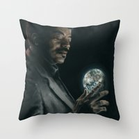 cosmos Throw Pillows featuring Cosmos by mycolour