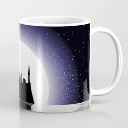 Moonlight Stanza - Night Sea, Castle & the Moon Coffee Mug