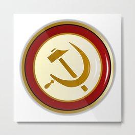 Russian Pin Badge Metal Print