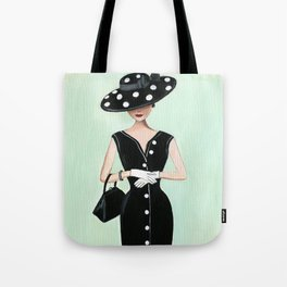 vintage polkadots Tote Bag