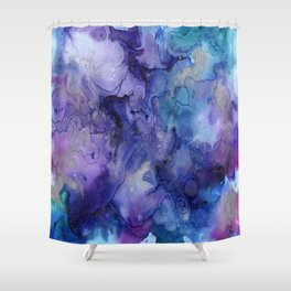 Watercolor Ink Abstract Shower Curtain