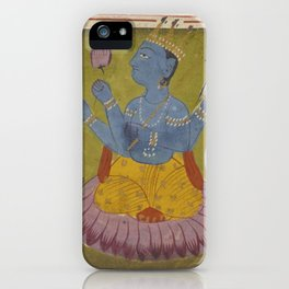 HINDU GODS Mythology from Sanskrit Manuscript iPhone Case