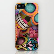 sugar skulls iPhone (5, 5s) Slim Case