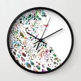 Leo (with diamonds) Wall Clock