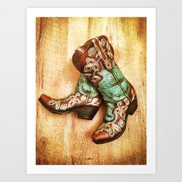 Cowboy Boots Art Print