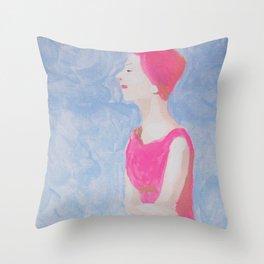 Opal Loved Her Quiet Beach Time Throw Pillow