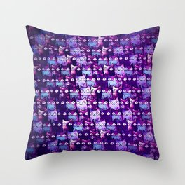 cats in owl 591 Throw Pillow