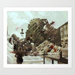 the collapse Art Print