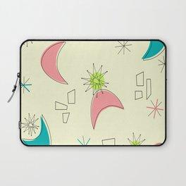 Boomerangs and Starbursts Yellow Laptop Sleeve