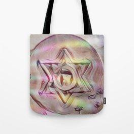 Floating Star Of David Tote Bag