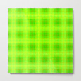 Lemon On Lime Grid Metal Print