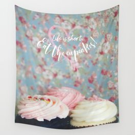 Eat the Cupcakes! Wall Tapestry