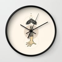 moth Wall Clocks featuring Moth by Marie Toh
