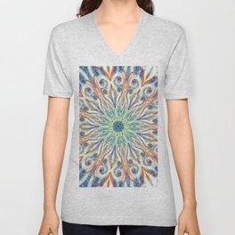 Colorful Center Swirl Unisex V-Neck