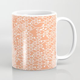 Microchip Pattern (Orange) Coffee Mug
