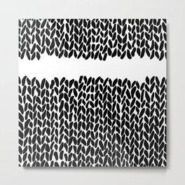 Missing Knit Metal Print