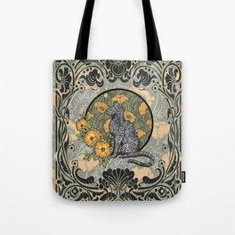 Cat Nouveau Tote Bag