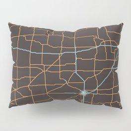 Kansas Highways Pillow Sham