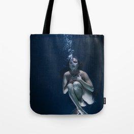 Woman Underwater Tote Bag