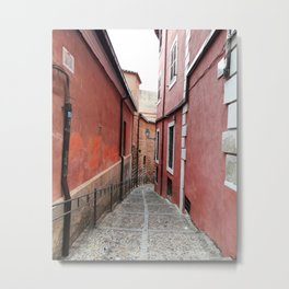 Old town stairs Metal Print