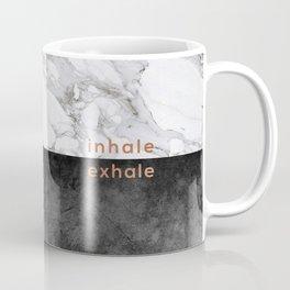 Inhale Exhale, Yoga Quote Coffee Mug
