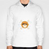luffy Hoodies featuring Captain Monkey D. Luffy by ARI RIZKI