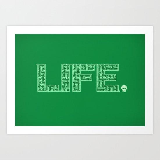 Life is Amazing Art Print