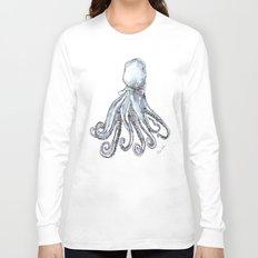 Octopus Watercolor Sketch Long Sleeve T-shirt