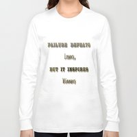 motivation Long Sleeve T-shirts featuring Motivation by Cart My Art