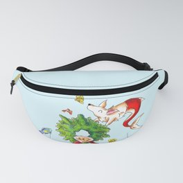 Coral Wreath Fanny Pack