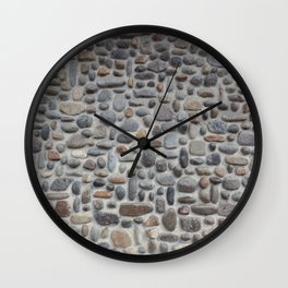 Pebble Mosaic Wall Clock
