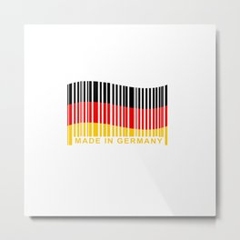 Made in Germany BarCode Metal Print