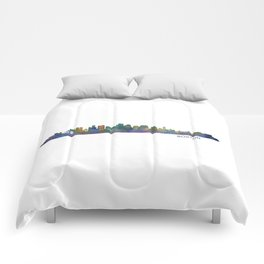 Boston Massachusetts City Skyline Hq V1 Comforters